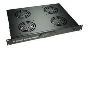 1U fan unit with thermostat