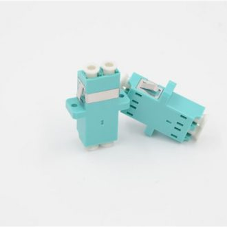 LC_PC-LC_PC MM Duplex OM3 Adapter Aqua