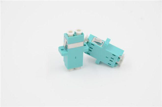 LC_PC-LC_PC MM Duplex OM3 Adapter Aqua